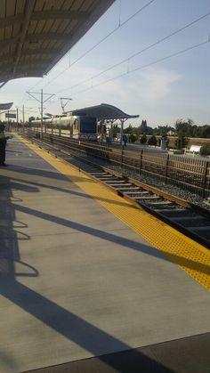 Northbound Blue Line Train doing station work at Franklin Boulevard Station.