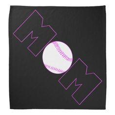 Black and Pink Softball Mom Bandanas! #softball #softballmom