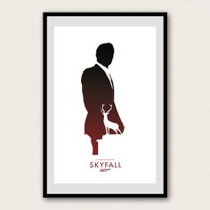 James Bond 007 Minimalist Poster  Skyfall by WestGraphics on Etsy, $18.00