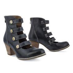 Victorian Multi-Strap Ankle Boot - Women's Clothing & Symbolic Jewelry – Sexy, Fantasy, Romantic Fashions