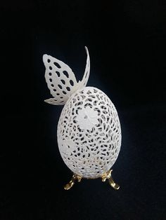 Carved Egg Shell Lace Egg Shell Ornament Handmade Egg With