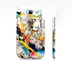 Psychedelic art  Samsung Galaxy s3 phone case  by ArtOfPrincessM