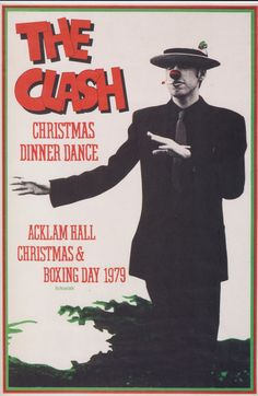 "phasesphrasesphotos: "" The Clash Christmas Dinner Dance Christmas & Boxing Day 1979 """
