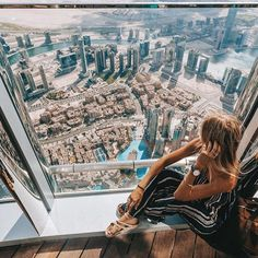 DUBAI. From the top - of the tallest building in the world  @visit.dubai #VisitDubai #Sp