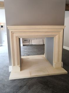 Bath stone Georgian style fireplace surround, double sided Dream Home Design, House Design, Wood Burner Fireplace, Natural Stone Fireplaces, Fire And Stone, Fire Surround, White Cottage, Fireplace Surrounds, Little White