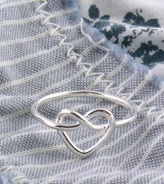 Heart Lovers Knot Ring in Sterling Silver...pinned by ♥ wootandhammy.com, thoughtful jewelry.