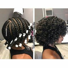 flat twist out perm rod style