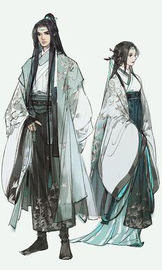 Laurent and Didi random/common outfits? Art Anime, Anime Art Girl, Manga Art, Character Concept, Character Art, Concept Art, Chinese Style, Chinese Art, Chinese Drawings