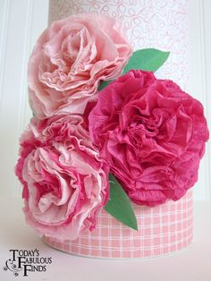 Today's Fabulous Finds: Crepe Paper Flowers and Girls Valentine Boxes