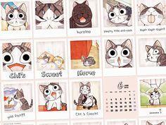 Chi's sweet home, calender, Chii's Sweet Home, Chi, Chi's Sweet Home, Chii, cat, Minou, Yohei Yamada, Youhei Yamada, Cocchi, Kochi, Noiraud, Blackie