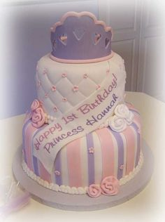 Hannah's 1st Birthday - Inspired by Sharon - SugarShack's Princess Cake ---