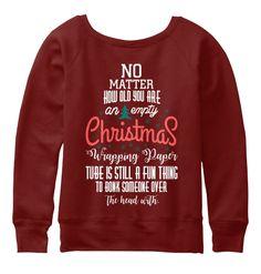 Christmas Fashioin Dark Red Triblend T-Shirt Back