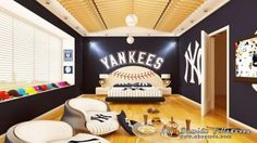 New York Yankees Bedroom Ideas | Yankees room! Those chairs!..