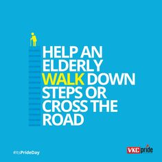 Blissful thoughts for a blissful weekend! Help an elderly walk down the steps to relish a great weekend day! Friday thoughts.. Pride day thoughts.. #vkc #vkcpride #itsprideday