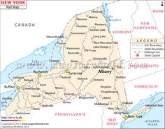 Buy New York Rail Map from Worldmapstore in different sizes and best printable quality.
