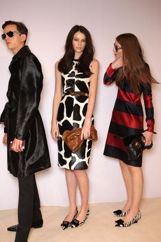 Backstage at Burberry Prorsum RTW Fall 2013