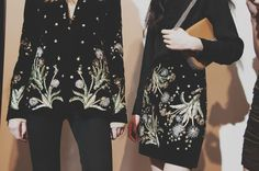 Thistle embroidery backstage at Topshop Unique AW15 LFW. See more here: http://www.dazeddigital.com/fashion/article/23727/1/topshop-unique-aw15-livestream