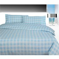 Image of Flannelette Duvet Cover - Check Blue Flannelette Sheets, Bed Curtains, Winter Warmers, King Size, Comforters, Duvet Covers, Household, Textiles, Blanket
