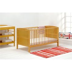 The Hudson Cot Bed from East Coast has a classic shape and panelled ends, with a white finish, so it'll suit a contemporary or traditionally styled nursery. Junior Bed, Cot Bedding, Nursery Furniture, Simple Shapes, Baby Grows, One Bedroom, East Coast, Cribs, Toddler Bed