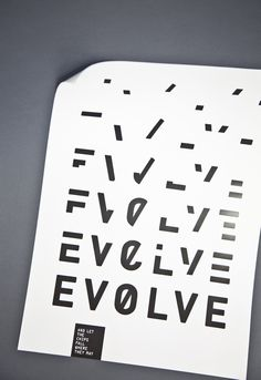 Evolve and let the chips fall where they may - Poster by Eunice Yip on Behance -