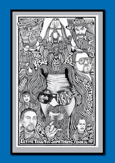 The Big Lebowski Jeff Bridges Coen Brothers Pen & by Posterography, $29.95
