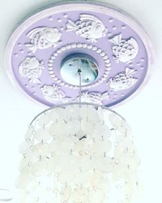 ceiling medallions ceiling medallion nautical ceiling medallions beach house decor purple decor nautical nursery decor marie ricci - The world's most private search engine Purple Ceiling, White Ceiling, Girl Decor, Boys Room Decor, Handmade Home Decor, Handmade Shop, Porch Pendant Light, Sweet Dreams Baby, Nautical Nursery Decor