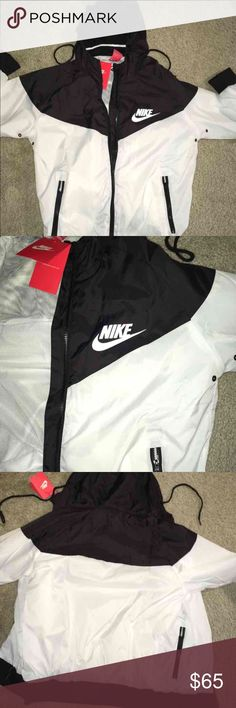 Nike Men Windbreaker White Black Unisex MSRP $125 Nike Men Windbreaker White Black Unisex MSRP $125  100% Authentic  All Nike fits a little small and they are in Men's but fit like a women's true size. So  Women buy your true size & Men buy a size up.   ** NO OFFERS PRICE IS FIRM** Nike Jackets & Coats Windbreakers