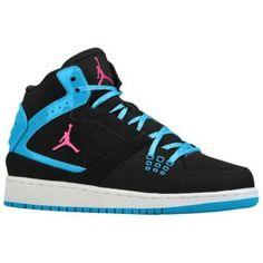 Jordan 1 Flight Mid - Girls  Grade School - Casual - Shoes - Black  2f8148aee