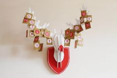 cardboard reindeer advent calendar | you are my fave