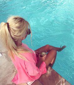 Blonde hair, Tan Skin, Summertime Swim