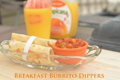 Balanced Breakfast: Burrito Dippers and Orange Juice. get your kids off to school right with this quick and #healthy breakfast