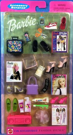 Barbie Doll Set, Baby Barbie, Barbie Food, Doll Clothes Barbie, Doll Toys, Barbie Stuff, Barbie Shoes, Barbie Camper, Accessoires Barbie