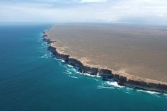 The Edge of Earth - Bunda Cliffs of Australia: The vast Nullarbor Plain is the world's largest limestone karst landscape covering an area of square km, extending km between Norseman and Ceduna End Of The World, Ends Of The Earth, Places Around The World, Oh The Places You'll Go, Wonders Of The World, Places To Travel, Places To Visit, Around The Worlds, Beautiful World