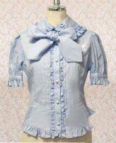 Light Blue Doll Collar Lolita Cotton Blouse