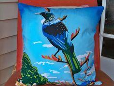 Kiwiana Cushion Covers Maori Designs, New Zealand Art, Kiwiana, Cushion Covers, Home Accessories, Coastal, Felt, Cushions, Birds