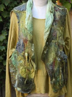 Studio 907: Hand Dyed and Nuno Felted Vests great blog, creative lady