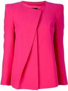 Giorgio Armani Collarless Blazer in Pink