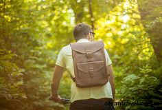 Leather backpack, Man backpack, Leather rucksack, Brown leather backpack - http://oleantravel.com/leather-backpack-man-backpack-leather-rucksack-brown-leather-backpack
