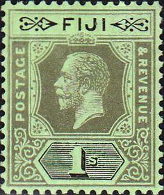 Postage Stamps Fiji 1912 King George V SG 134 Mint Scott 88 Other Fiji Stamps HERE