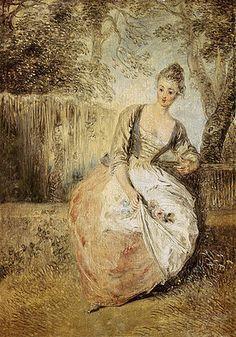 Jean Antoine Watteau: Die ungeduldige Verliebte.