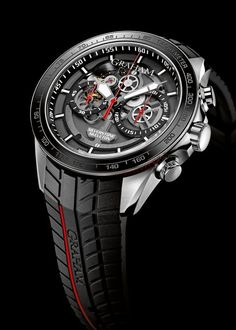 Graham Silverstone RS Skeleton Chronograph in Red. Perfect gift option for a Valentine's Day