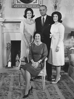 Presidential Families - UPI.com  Lydon and Lady Bird Johnson and daughters