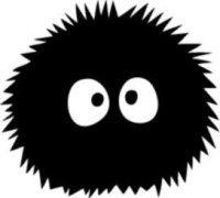 Ghibli Spirited Away Dust Bunnies Vinyl Car Window Laptop Decal Sticker - Nails Laptop Decal Stickers, Bumper Stickers, Vinyl Decals, Car Decals, Silhouette Portrait, Silhouette Studio, Silhouette Cameo, Miyazaki, Totoro Ghibli