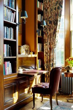 "[i]The desks in the study face bookcases.[/i] Like this? Then you'll love [link url=""http://www.houseandgarden.co.uk/interiors/furnishings/desks-and-dressing-tables""]Do The Write Thing[/link]"