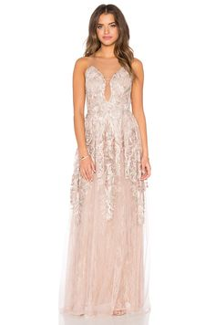 Patricia Bonaldi Embellished Tulle Gown in Blush