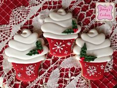 Christmas cupcake cookies | Cookie Connection