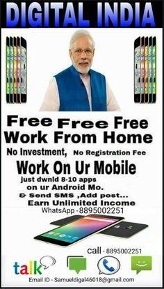 👉👉अगर आप part time job करके 15000 - 50000 Rs. FIXED INCOME कमाना चाहते है तो ....... आइये DIGITAL INDIA ke is Revolutionary concept से जुड़िये..... और घर se operate karke लाखो कमाये.. Duniya ka pehle Zero इनवेस्टमेन्ट ka international MLM business (WORLDWIDE)  आपके पास Andriod फोन होना जरूरी है.  JOIN होने के लिए आप   1⃣ अपने फ़ोन के PLAYSTORE में Champcash money Free लिखो और उस app को अपने मोबाइल में install कर लो ! 2⃣ अब app पर click करो और sign up with champcash पर click करके अपनी…