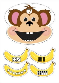 Zoo Centers for Preschool and Kindergarten. Feed the money the correct banana number representations.