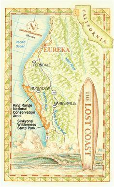 Map: California's Lost Coast