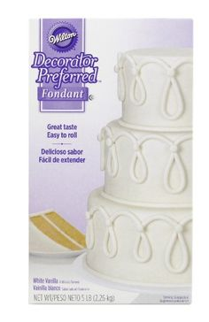 Wilton 710-2300 Decorator Preferred Fondant, 5-Pound, White - Our Decorator Preferred Fondant Offers optimal balance of taste, texture and functionality. Our fondant is ready to roll and shape, making it the easiest way to create an elegant fondant cake. The 24 oz. package covers an 8 inch 2 layer cake plus decorations.